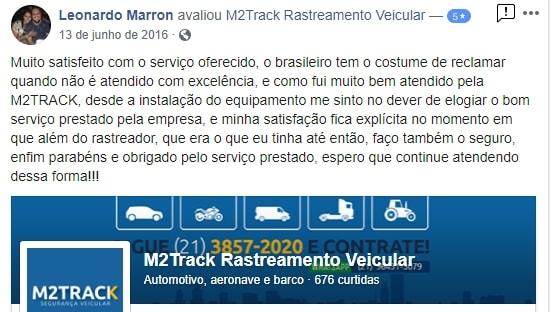 Depoimento de Leonardo Marron sobre a M2TRACK
