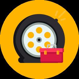 Assistência para troca de pneu